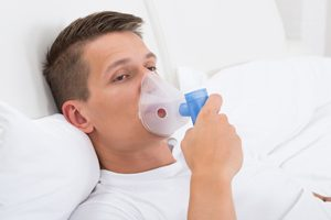 Vasectomy patient receiving Nitrous Oxide sedation prior to his vasectomy